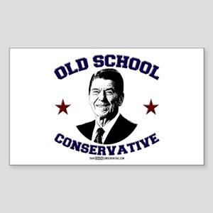 Old School Conservative Rectangle Sticker