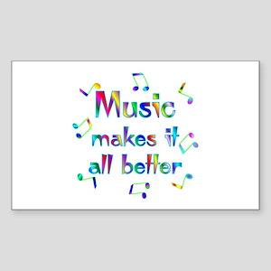 Music Rectangle Sticker
