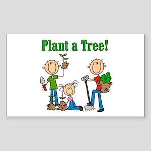 Plant a Tree Rectangle Sticker