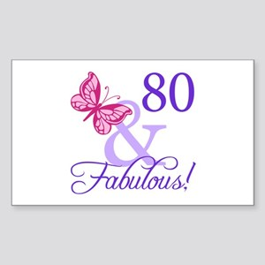 80 And Fabulous Sticker (Rectangle)