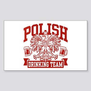 Polish Drinking Team Rectangle Sticker