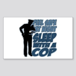 Feel Safe at Night, Sleep With Sticker (Rectangle)