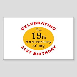 Celebrating 40th Birthday Rectangle Sticker