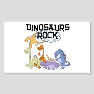 Dinosaurs Rock Rectangle Sticker