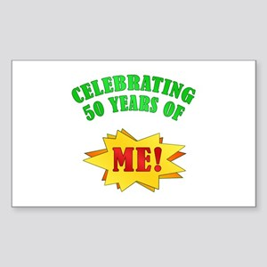 Funny Attitude 50th Birthday Rectangle Sticker
