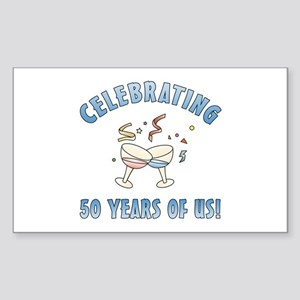 50th Anniversary Party Sticker (Rectangle)