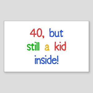 Fun 40th Birthday Humor Sticker (Rectangle)