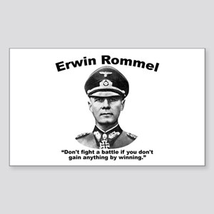 Rommel: Don't Fight Sticker (Rectangle)