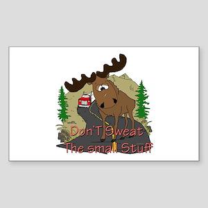 Moose humor Sticker (Rectangle)