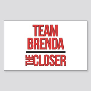 Team Brenda The Closer Sticker (Rectangle)