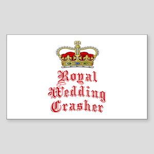 Royal Wedding Crasher Sticker (Rectangle)