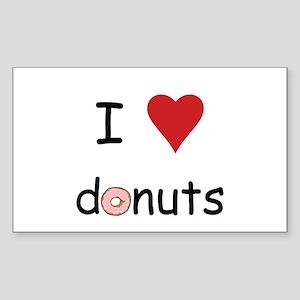 I Love Donuts Sticker (Rectangle)