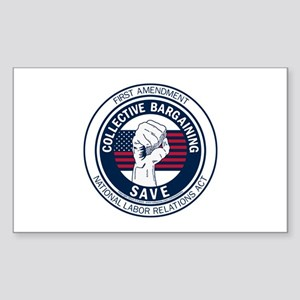 Save Collective Bargaining Sticker (Rectangle)