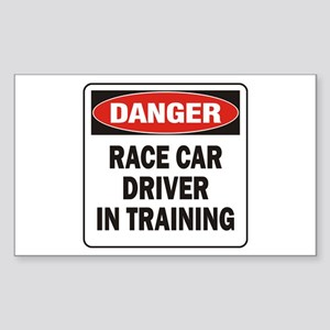 Race Driver Sticker (Rectangle)