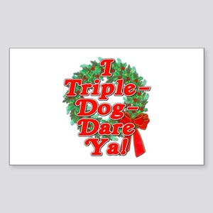 Triple Dog Dare A Christmas Story Sticker (Rectang