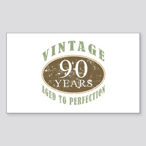 Vintage 90th Birthday Sticker (Rectangle)