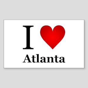 I Love Atlanta Sticker (Rectangle)