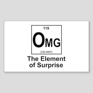 Element Omg Sticker (Rectangle)
