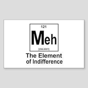 Element Meh Sticker (Rectangle)