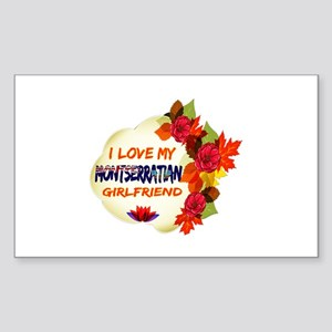 Montserratian Girlfriend Valentine design Sticker