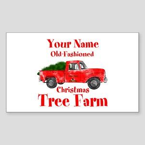 Custom Tree Farm Sticker (Rectangle)