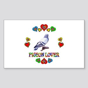 Pigeon Lover Sticker (Rectangle)