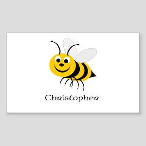 Bee Sticker (Rectangle)