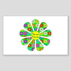 Cool Flower Power Sticker (Rectangle)