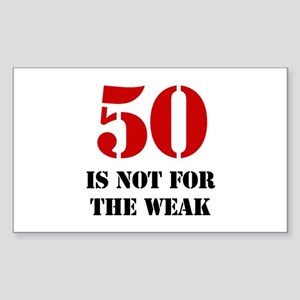50th Birthday Gag Gift Sticker (Rectangle)