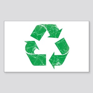 Vintage Recycle Sticker (Rectangle)