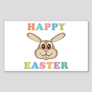 Happy Easter Bunny Sticker (Rectangle)