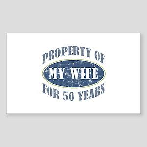 Funny 50th Anniversary Sticker (Rectangle)