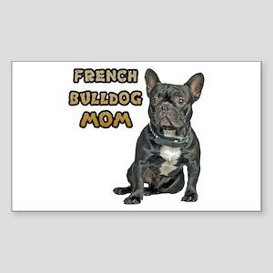 French Bulldog Mom Sticker (Rectangle)