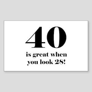 40th Birthday Humor Sticker (Rectangle)