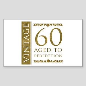 Fancy Vintage 60th Birthday Sticker (Rectangle)