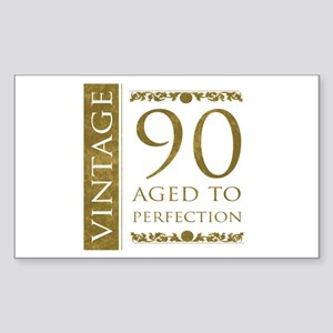 Fancy Vintage 90th Birthday Sticker (Rectangle)