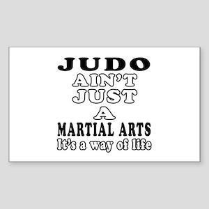 Judo Martial Arts Designs Sticker (Rectangle)