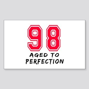 98 Year birthday designs Sticker (Rectangle)