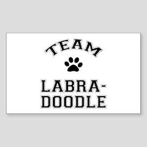 Team Labradoodle Sticker (Rectangle)