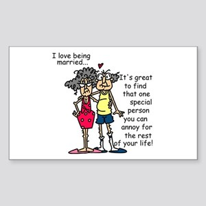 Marriage Humor Sticker (Rectangle)