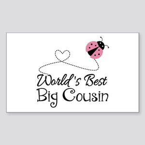World's Best Big Cousin Sticker (Rectangle)