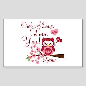 Owl Always Love You Sticker (Rectangle)