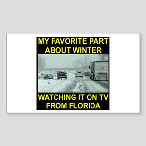 Watching It On TV In FLA Sticker (Rectangle)