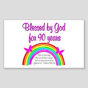 PRECIOUS 90TH Sticker (Rectangle)