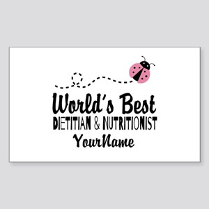 World's Best Dietitian Sticker (Rectangle)