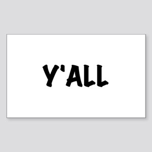 Y'All Sticker (Rectangle)