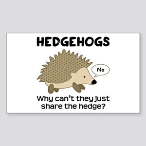 Hedgehog Pun Sticker (Rectangle)