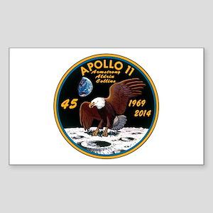 Apollo 11 45th Anniversary Sticker (Rectangle)
