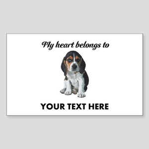 Personalized Beagle Custom Sticker (Rectangle)