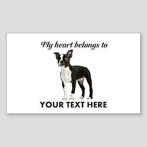 Personalized Boston Terrier Sticker (Rectangle)